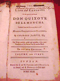 EDITION 1740 DON QUIXOTE TR. BY CHARLES JARVIS 4.jpg (26563 bytes)